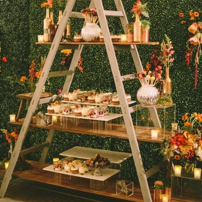 DIY food display stand - 31 Budget Hen Party Games and Ideas