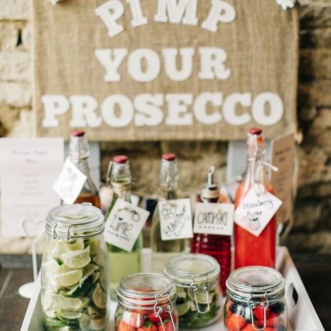 DIY Prosecco bar - 31 Budget Hen Party Games and Ideas