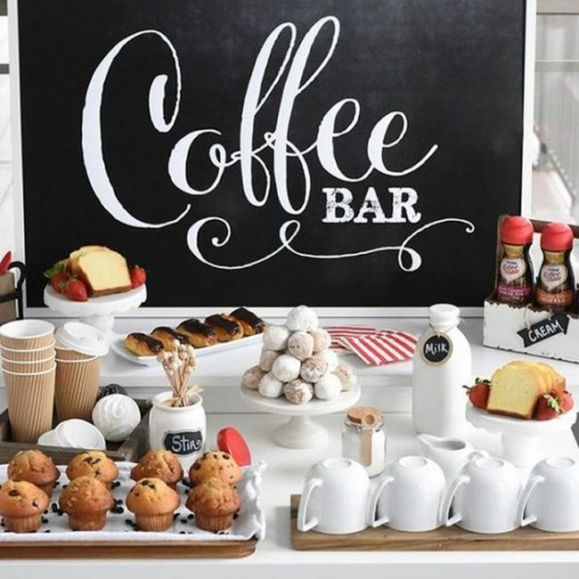 Coffee bar and cakes - 31 Budget Hen Party Games and Ideas