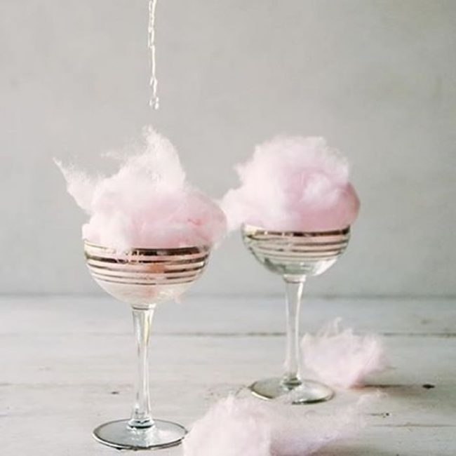 Candy floss cocktails - 31 Budget Hen Party Games and Ideas