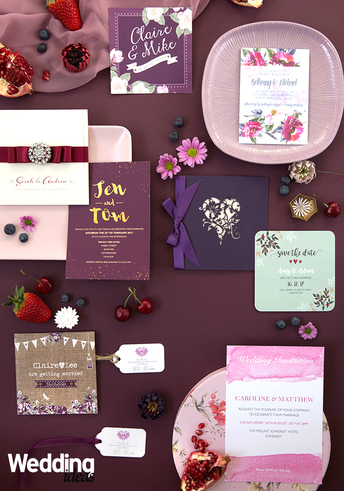 15 Ultra Elegant Purple Wedding Stationery Ideas