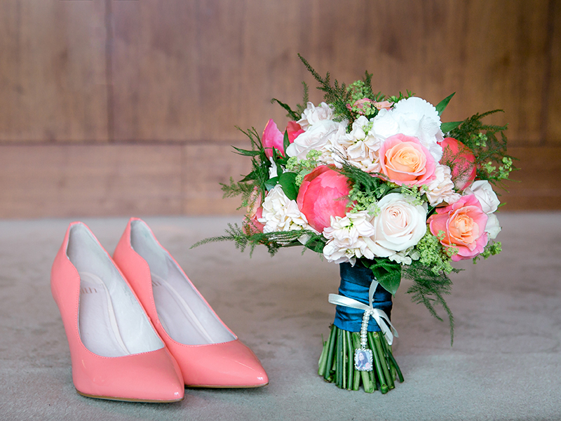 Larissa and Stephen's dreamy coral wedding will have you falling in love in seconds! Find your flower ideas, decor and more from this real couple's ideas...