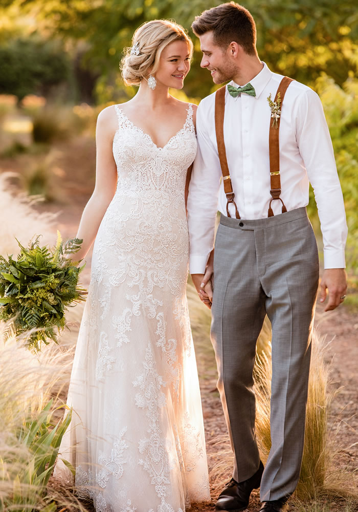 Presenting the ultra dreamy Essense of Australia 2018 collection. Check out these romantic wedding dresses with lace, low backs and plunging necklines...