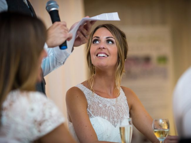 bride receiving speech - who does wedding speeches