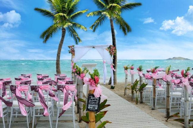 Coconut Bay Beach Resort and Spa - Eternity Beach Wedding 1