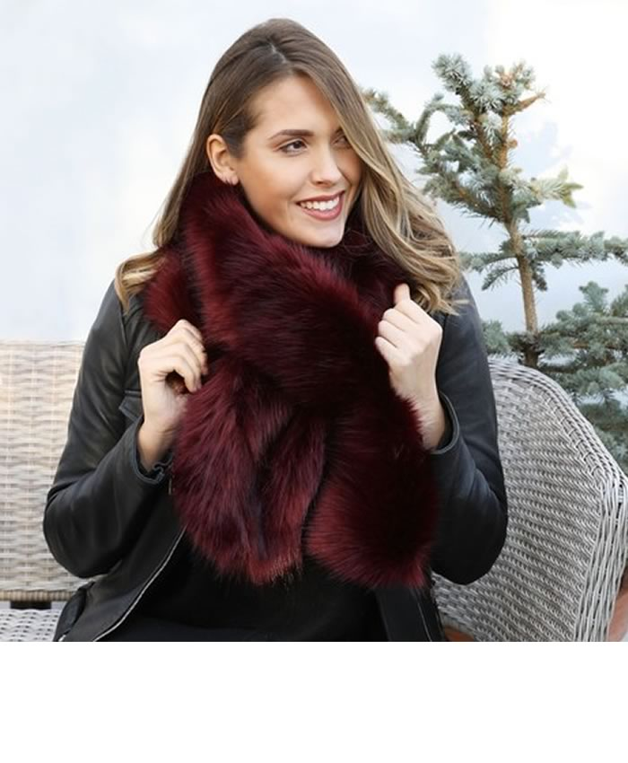 His and hers gifts: Lisa Angel Faux Fur Stole