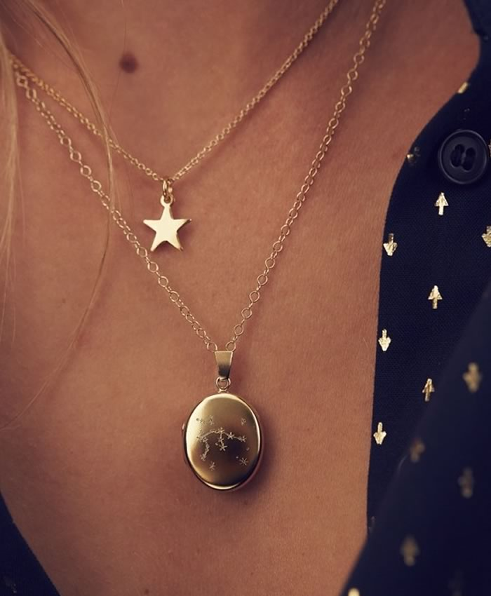 His and hers gifts: Posh Totty Designs Constellation Locket