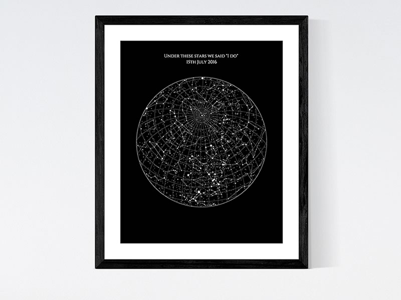 His and hers gifts: Posterhaste Personalised Star Map