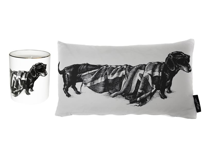 His and hers gifts: Rory Dobner 'Hot Dog' Ink Illustration Home Accessories