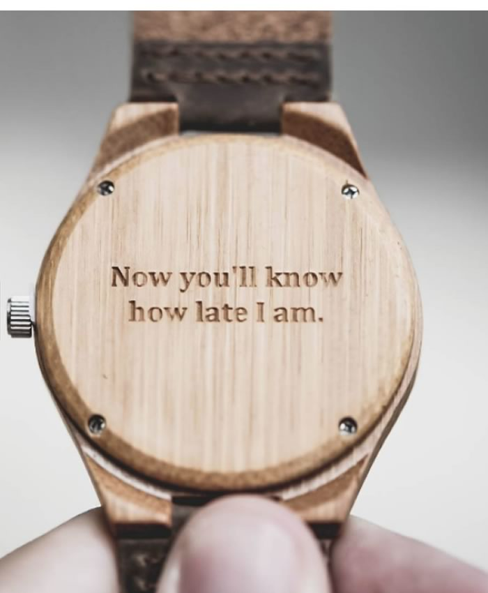 His and hers gifts: Treehut.co wooden engraved watches