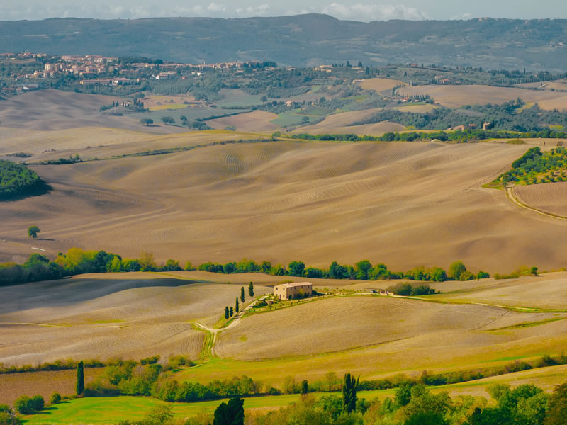 The Best Places to Get Married in Italy tuscan fields