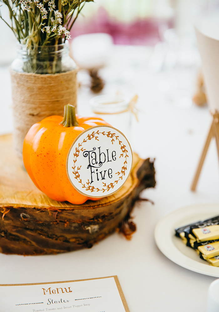 Take inspiration from the seasons for your big day, just like this couple did for their rustic autumn wedding, featuring dreamy dried flowers and DIY decor