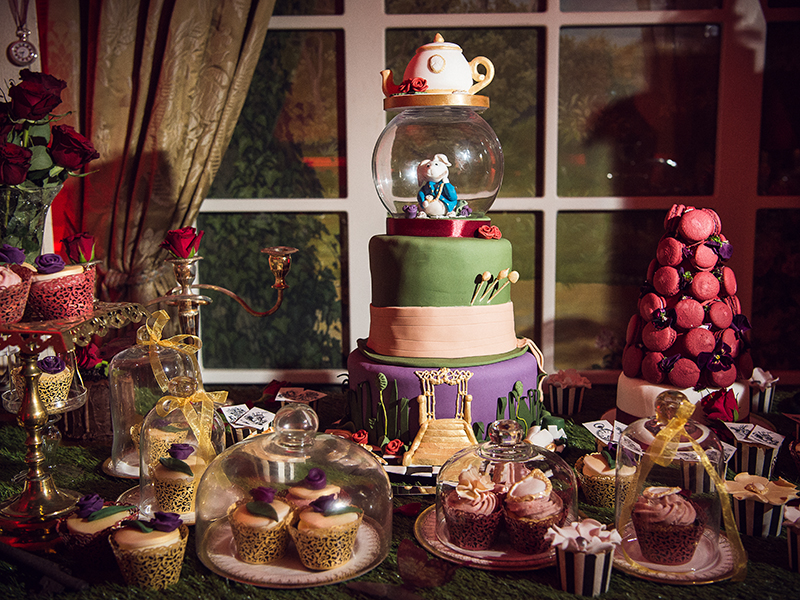 For a wedding that is enchanting, opulent and a whole lot of fun, choose an Alice in Wonderland theme just like this couple did...