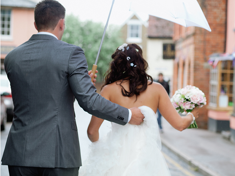 Rain on your wedding day might make you panic that it'll be a wash out, but prepare yourselves with these practical tips and it'll be anything but...