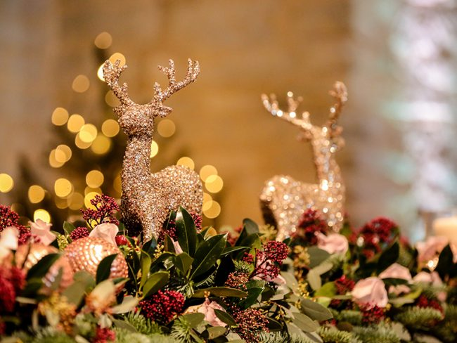 gold stag decorations Christmas wedding decorations