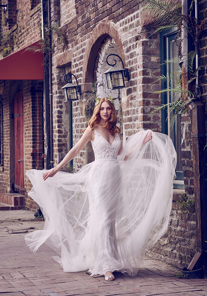 The new Maggie Sottero Emerald collection has landed with beautiful bridal designs, from princess dresses to fit and flare, and even gowns with pockets!