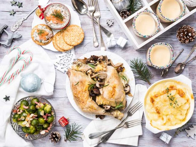 healthy christmas dinner for slimming brides