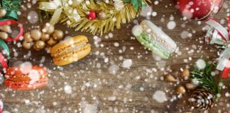 snowing on macarons for festive bakes