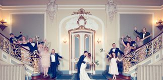Planning your own festive winter wedding? Check out Laura and Craig's country house big day, complete with amazing food, seasonal style and sparklers!