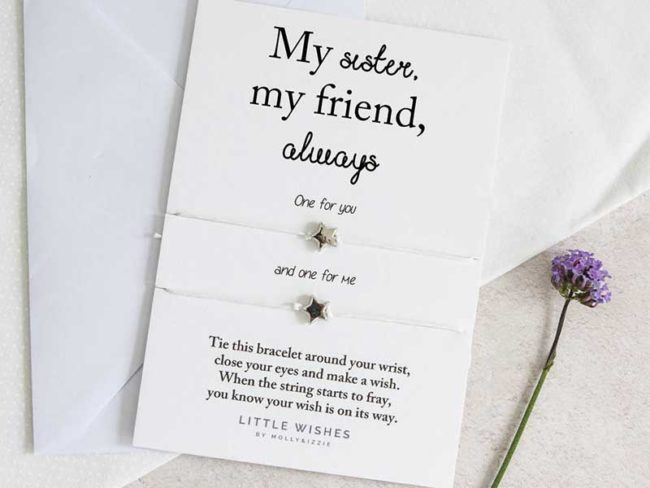 sisters friendship bracelet bridesmaid gifts