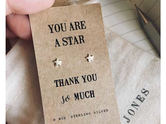 Thank you earrings
