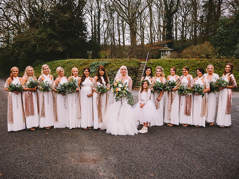 Filled with greenery, gold accents and nods to the Great Gatsby, this luxe winter wedding was an ultra glam and atmospheric party on New Year's Eve...