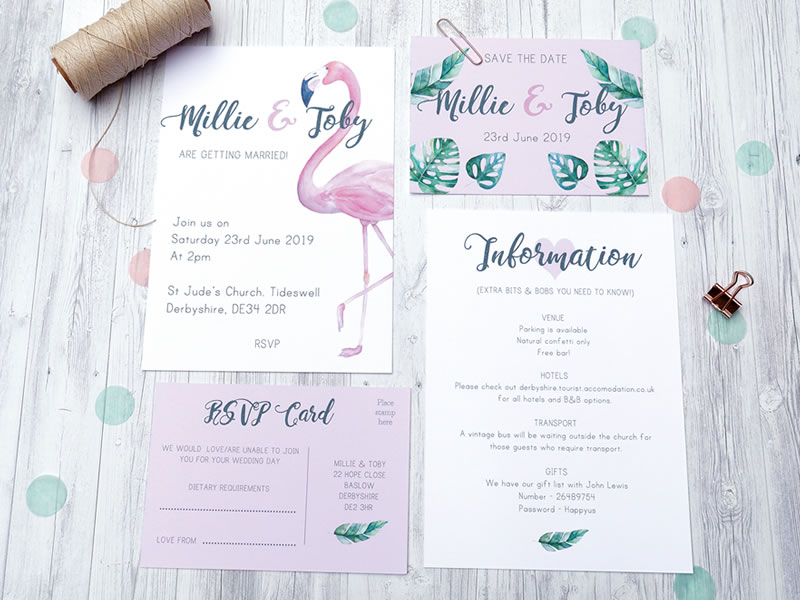 WIN 'A Bird & A Bee' Pretty Wedding Stationery Worth £1,000!