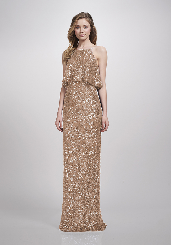 ee61af6ca0 Watters Gold bridesmaid dresses will give your best girls instant glamour