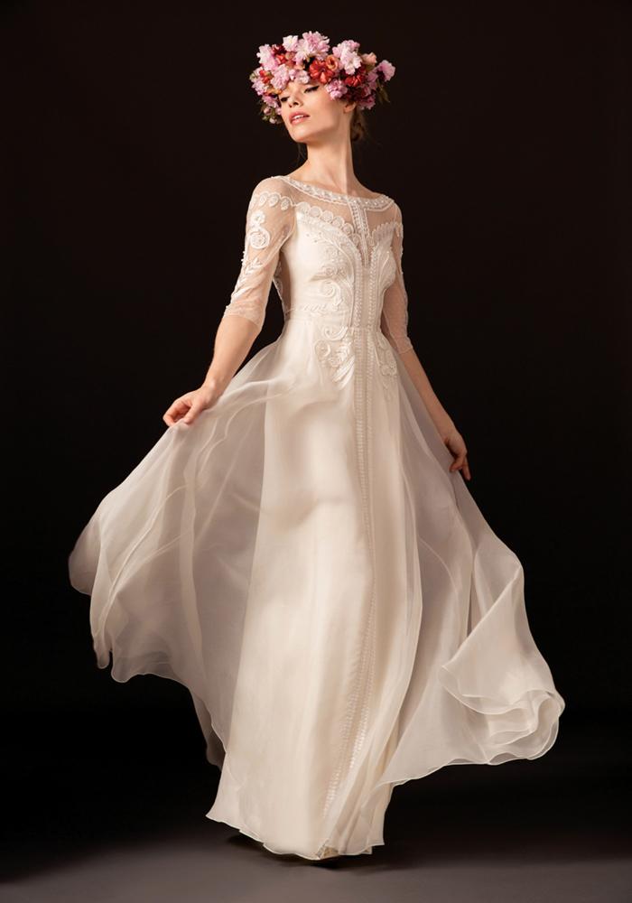 temperleylondon.com dahlia collection 2018 Temperly Bridal LOOK 2 ZAIDA