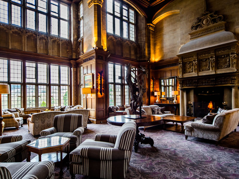 Cosy Country lodege-style social lounges make your Bovey Castle stay all the more comfortable!