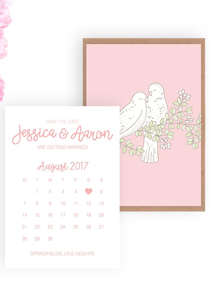 Love Birds Save the Date, beaandbloom.com £1.95