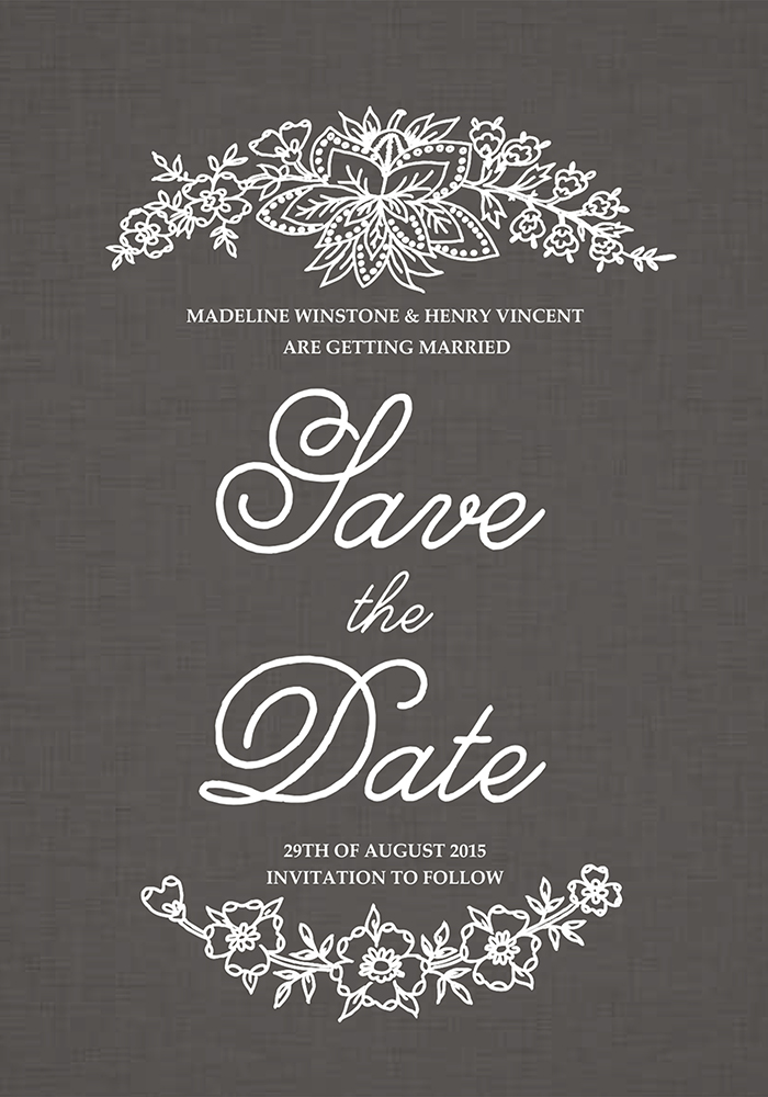 Maralyn Save The Date, www.childpaperco.co.uk, £1.59