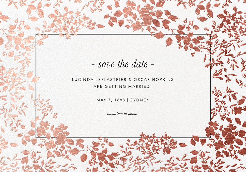 Wedding Invitation Save The Date: Set A Wedding Date? 35 Save The Date Invitations To Send