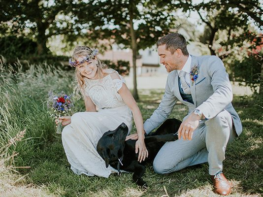 Follow these three simple steps to ensure pets at weddings look their beautiful best, feel comfortable and are as happy as you are on the big day!