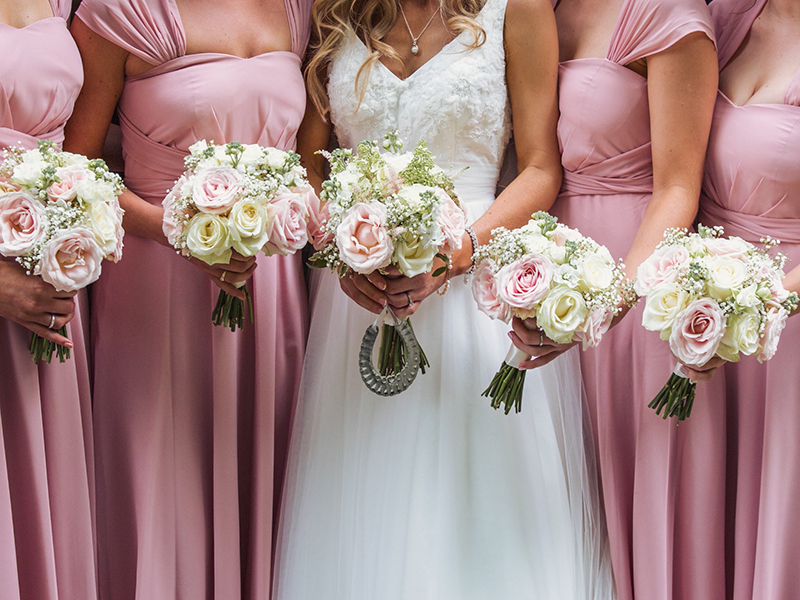 Lexi and Michael married with a beautiful blush pink and ivory colour scheme and rustic, vintage details at their Worcestershire wedding - see more here...