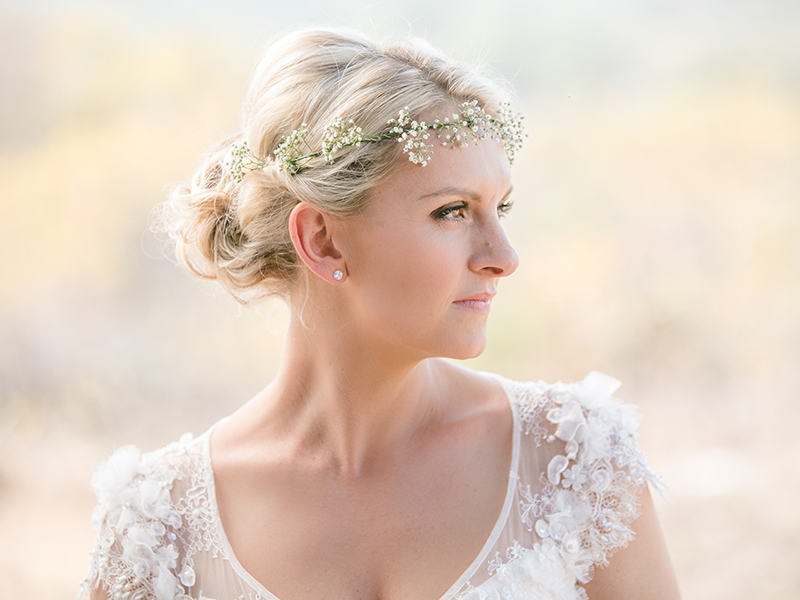 Lizel and Luke married on a private game reserve in South Africa, celebrating with an ultra romantic rustic wedding in the bush - see all the photos here