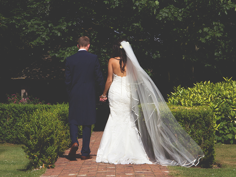 Ye Olde Bell Hotel & Spa sets the scene for a blush pink theme wedding, with the bride walking down the aisle in a stunning Pronovias gown...