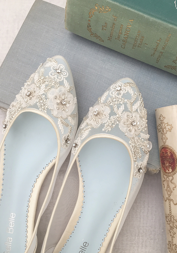 Decide whether to walk down the aisle in high heels or flats with expert advice from Bella Belle, ensuring comfort, confidence and style for the big day