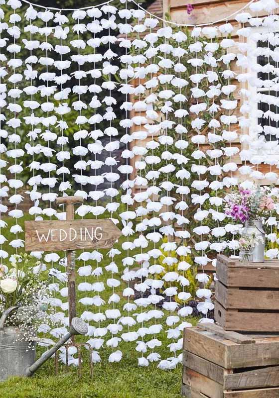 floral curtain backdrop