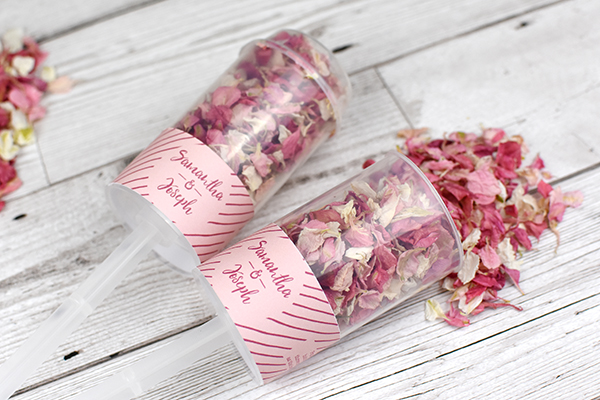 The easy way to create the perfect confetti moment that is unique to your wedding day, use Shropshire Petals' new Personalised Confetti Pops to celebrate...