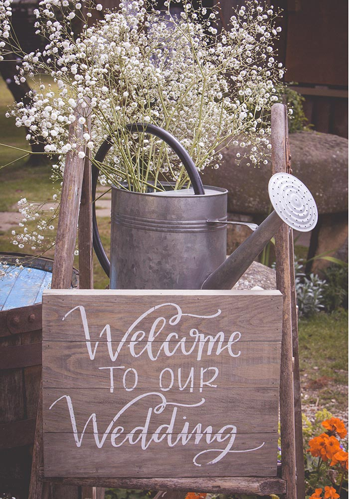 Gemma and Wes hosted their rustic family wedding at The Fleece Inn, with their nearest and dearest at the heart of the celebrations...