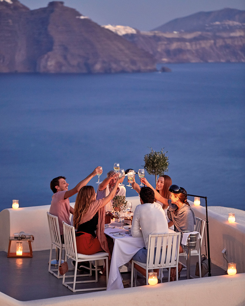 Canaves Oia Suites - Panorama Balcony Dinner Experience2