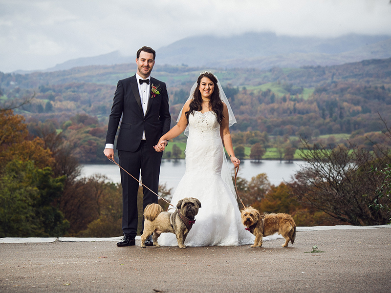 The flowers took centre stage at this autumn Lake District wedding in Windermere, check out the photos to see this couple's gorgeous burgundy colour scheme