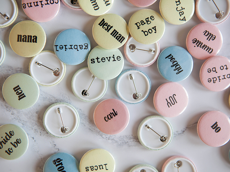 Personalised pastel name badge RRP £1 weddinginateacup.co.uk