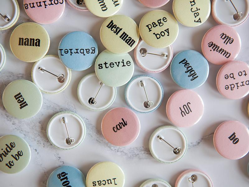 Personalised pastel name badge RRP £1 weddinginateacup.co.uk