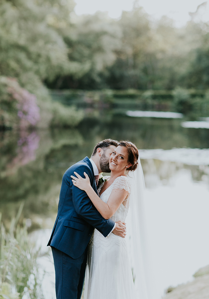 Zoe & Ben styled their modern marquee wedding with greenery, white flowers and copper for an ultra romantic, super stylish reception - check out the photos