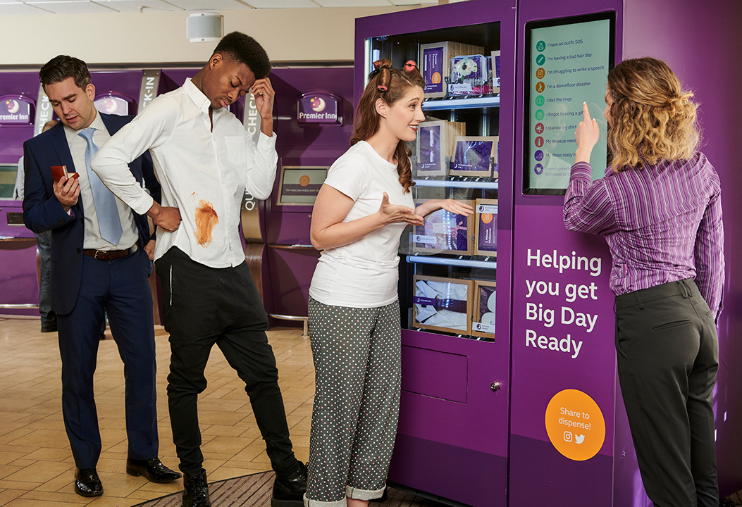 The UK's first wedding vending machine has been installed in the Premier Inn at London's County Hall
