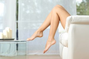 Waxed legs