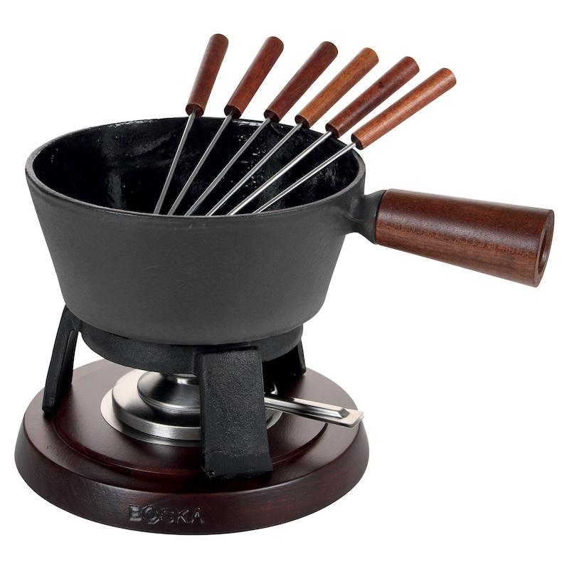 John Lewis Boska Cast Iron Fondue Set Pro with Wood Handles, johnlewis.com, Top wedding gifts for food lovers