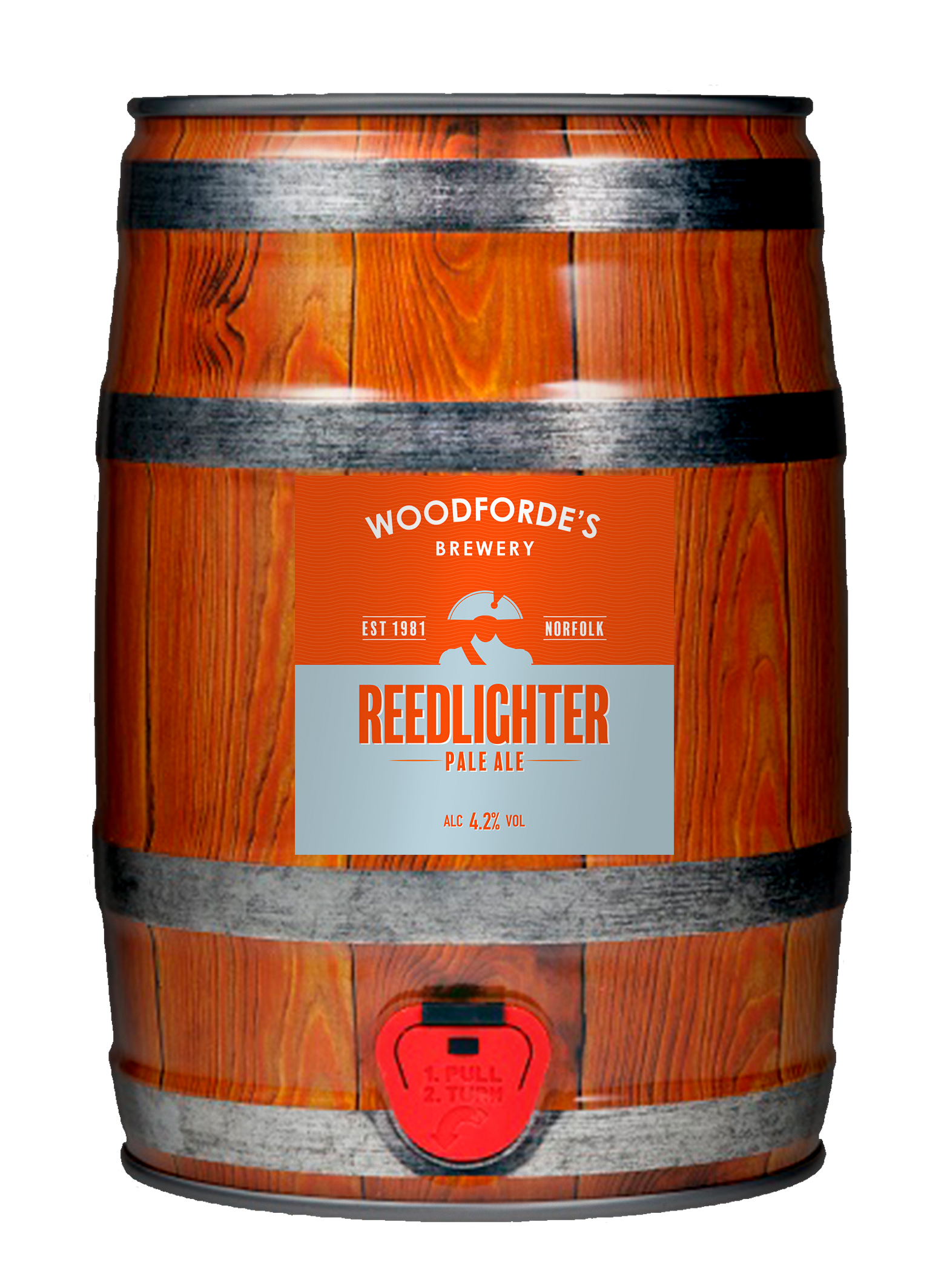 Woodforde's Brewery, Redlighter Pale Ale Mini Cask, ú17.99 at www.woodfordes.co.uk copy